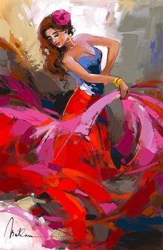 Browse Artwork by Anatoly Metlan - Park West Gallery Painting Of Girl, Figure Painting, Spanish Art, Spanish Dancer, Art Studio Design, Dance Paintings, West Art, Painter Artist, Arte Pop