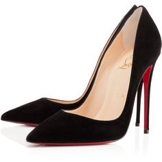 Christian Louboutin So Kate (11,375 MXN) ❤ liked on Polyvore featuring shoes, pumps, heels, christian louboutin, sapatos, black, pointed-toe pumps, black high heel shoes, high heel pumps and pointy-toe pumps
