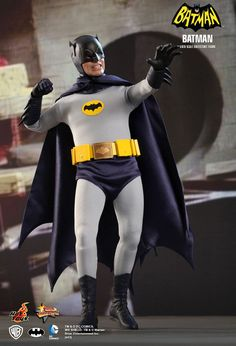 Realistic Batman  -  The super realistic looking 1/6 scale Batman and Robin collectible figures made by Hot Toys and based on Adam West and Burt Ward's appearance in the 1966 Batman movie. Each comes with a choice of faces, different weapons, and a bunch of different interchangeable hands.