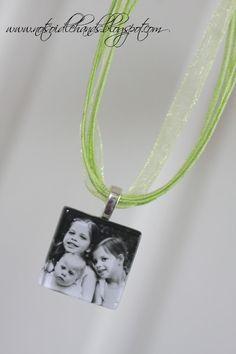 diy photo glass tile pendant necklace
