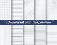 Set of ten subtle seamless patterns. Packaging Design, Monochrome, Moe, Gray Color, Texture, Classic, Design Trends, Patterns, Colors