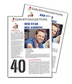 Geburtstagszeitung wie eine Zeitung