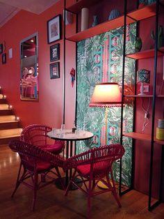 Temakinho, Milan, posti belli, brazilian, interior, tropical, restaurant, cozy places, flamingo, cosy