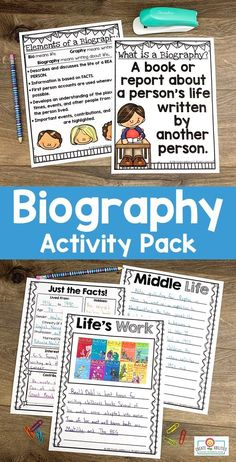Use this biography pack to teach note taking, research, writing, & more. Your 2nd, 3rd, 4th, and 5th grad eustdnets will be engaged in learning about others' lives. You get posters, organization pages, hands-on interactive activities, easily differentiated pages, and more. This download is a great way to cover a variety of content areas for one great culminating project. Grab it today to use with your second, third, fourth, or fifth graders. #Biography #2ndGrade #3rdGrade Research Poster, Engage In Learning, 5th Grade Classroom, Interactive Activities, Guided Reading, The Life, Writing Inspiration, Biography, Third