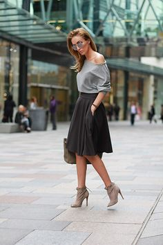 Love  http://lookbook.nu/look/4949754-Flawless-Skirt-Topshop-Boots-Herms-Bag-Shades-Of-Grey