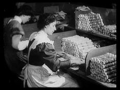 Making Christmas Crackers (1910) (Special treat inside the very last - and largest - cracker!)