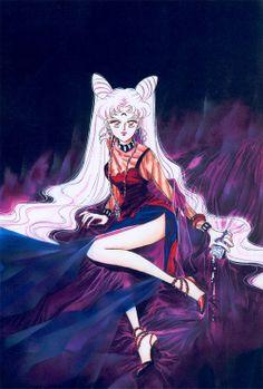 psicomana:  ブラック・レディ / ちびうさ - Black Lady / Chibiusa [美少女戦士セーラームーン - Bishoujo Senshi Sailor Moon]