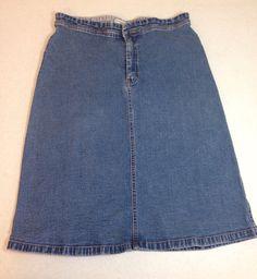 Tommy Hilfiger Jean Skirt Size 8 by Oldtonewjewels on Etsy