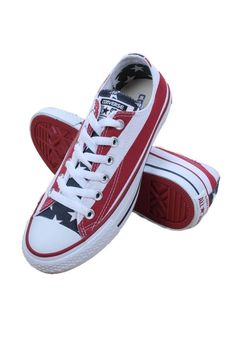 b84e9b0f1840 Converse 3494 Womens Shoes Chuck Taylor All Star American Flag Ox Sneaker  NEW…