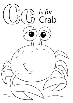 Exclusive Image of Crab Coloring Pages . Crab Coloring Pages Letter C Is For Crab Coloring Page Free Printable Coloring Pages Letter C Coloring Pages, Super Coloring Pages, Cat Coloring Page, Animal Coloring Pages, Free Printable Coloring Pages, Coloring Pages For Kids, Coloring Sheets, Coloring Books, Kids Coloring