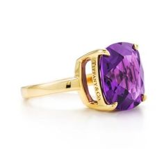 Tiffany sparklers amethyst cocktail ring