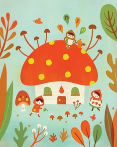 Artist Hsinping Pan; first discovered in Elliott's Babybug magazine.