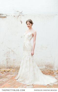 Ivory-lace wedding dress, Mermaid-cut   Photographer : @Christine Ballisty Meintjes    Dress : @Ellen Winterrose Gillis    Make-up : @Alicia T Buckle