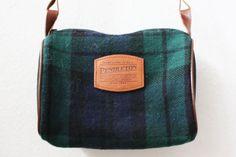 Pendleton Purse / Plaid Pendleton Wool and by friendlyfoxvintage