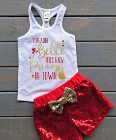 Princess Belle Outfit Beauty and The Beast Outfit Sequin