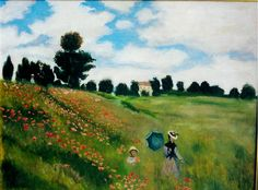 """Copia da """"I papaveri"""" di C. Monet. Olio su tela"""