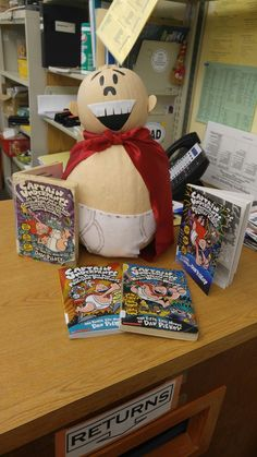 Library book character pumpkin captain underpants