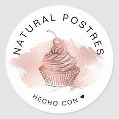 Baking Logo Design, Cake Logo Design, Logo Patisserie, Design Rosa, Dessert Logo, Rose Gold Backgrounds, Cupcake Logo, Gold Drip, Bakery Logo