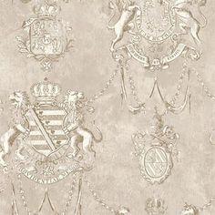 Grey Avignon Crest Wallpaper, SBK26097