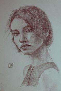Рисуем портрет карандашом поэтапно