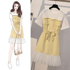 Women Summer Letter Print O-neck Casual Short Sleeve T-shirt + Elastic Waist Sport Pants Two Piece Set Source by outfits drawing Cute Fashion, Girl Fashion, Womens Fashion, Fashion Drawing Dresses, Fashion Dresses, Mode Kpop, Illustration Mode, Dress Sketches, Fashion Design Sketches