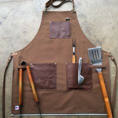 Grill Apron, Custom Aprons, Leather Apron, Grill Master, Happy Fathers Day, Cool Drawings, Decor Crafts, Grilling, Birthday Gifts