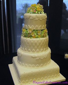 Quilting & Lace Wedding Cake
