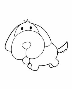 Puppy - Free Printable Coloring Pages
