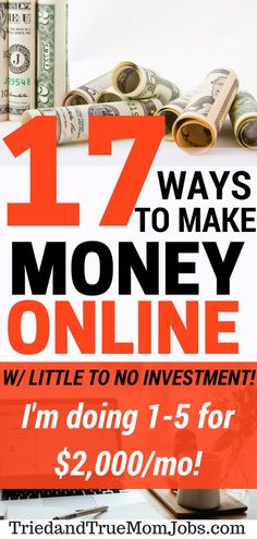 17 Legitimate Ways to Make Money Online. I have two kids under two and I'm making $2,000 a month now online. These jobs are flexible enough to raise your family or do anything else you want. Take a look and see which one or more works for you #workfromhome #makemoneyonline #financetips #finance #personalfinance #moneymanagement