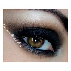 Dramatic Smokey Eyes ❤ liked on Polyvore