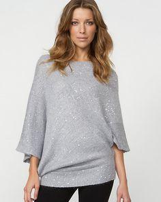 Angora Blend Sequin Sweater
