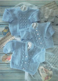 baby cable cardigans and sweater knitting pattern от Minihobo