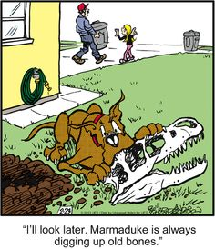 Marmaduke takes on archeology Dog Comics, Cute Comics, Cartoon Dog, Cartoon Pics, Herman Comic, Animal Quotes, Funny Animal Pictures, Funny Cartoons, I Love Dogs