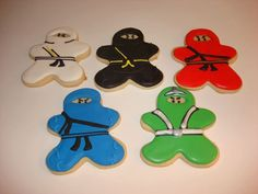 Ninjago Warrior Sugar Cookie Assortment 12 One by WackyCookies, $36.00