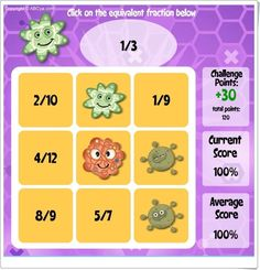 Bingo de fracciones equivalentes (Abcya.com)