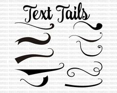 Text Tails Text Swoosh svg eps pdf instant download silhouette cameo Cricut Design Space Fonts and other cutters svg font