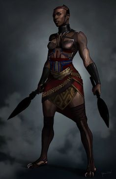 """Dora Milaje"" Official Black Panther concept art by Costume design by 〰 If you live in the Toronto area,… Black Panther Marvel, Black Panther Art, Female Black Panther, Black Love Art, Black Girl Art, Black Panthers, Black Characters, Female Characters, African Warrior Tattoos"