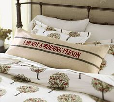 I Am Not a Morning Person Lumbar Pillow Cover #potterybarn