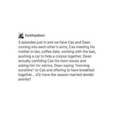 I don't want to get my hopes up about Destiel becoming canon, but I'm loving every second of this to be honest