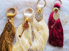 Santa's Magic Key, Gypsy Moon, Christmas Crafts, Xmas, Lucky Charm, Seasonal Decor, Christening, Tassel Necklace, Tassels