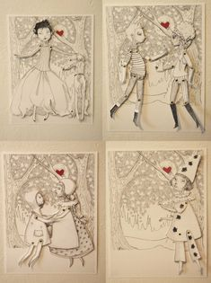 Une Envie de Sel valentine paper doll art work- lovely! By illustrator Maia Chavez Larkin