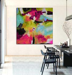 Www Wall Art De fine art original abstract painting de kooning style modern wall art