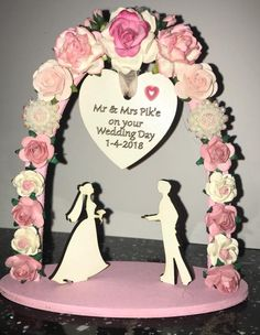 """Finished item from the new laser and CNC cut """"Wedding Theme"""""""