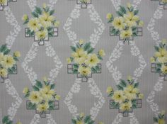 Vintage Wallpaper - Gray and Yellow Floral