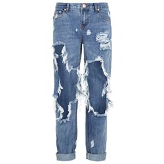 One Teaspoon Awesome Baggie Jeans (525 BRL) ❤ liked on Polyvore featuring bags, handbags, shoulder bags, jeans, pants, bottoms, trousers, summer handbags, blue purse and cotton handbags