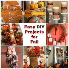 Blogger Marty's Musings share these easy DIY projects for fall including fun and inexpensive crafts made with thrifted and natural elements to create a beautiful fall home on a budget. Included are projects for every room in the house!