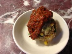 Turkey and corn meatballs with roasted pepper sauce Best Cookbooks, Yotam Ottolenghi, Best Food Ever, Jerusalem, Meatloaf, Roast, Turkey, Beef, Stuffed Peppers