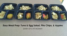 Diary of a Fit Mommy » Easy Weekly Meal Prep: Tuna Salad, Pita Chips, & Apples