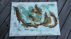 Acrylbild Rost und Patina mit vielen von abstractartmoewchen