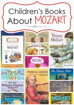 Learn To Read Music What to Read: Children's Books About Mozart - Studying the life, music, and legacy of Wolfgang Amadeus Mozart in your homeschool? Here's a list of Mozart books for kids to help you learn! Best Children Books, Childrens Books, Toddler Books, Piano Lessons, Music Lessons, Mozart For Kids, Music Activities, Music Classroom, Teaching Music